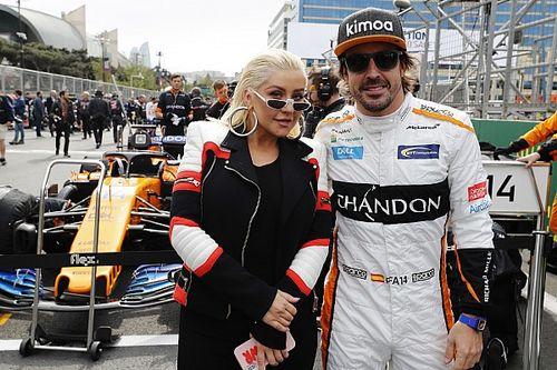 Кристина Агилера на гонке Формулы 1 в Баку: фото