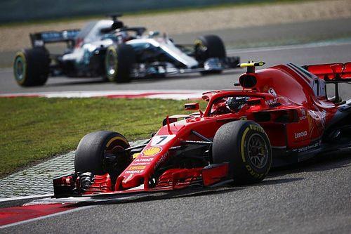 Räikkönen sur le podium après être revenu de loin