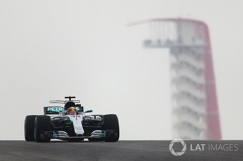 Austin, Libere 1: Hamilton davanti, Vettel si infila fra le due Mercedes