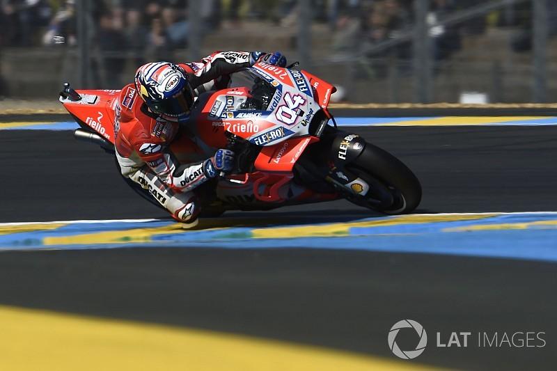 Dovizioso met ronderecord aan kop in tweede training GP van Frankrijk