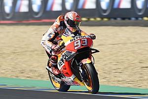 MotoGP Practice report MotoGP Prancis: Marquez puncaki warm-up, Zarco terjatuh