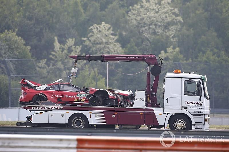 René Rast hospitalizado tras su accidente en el DTM y no correrá el domingo