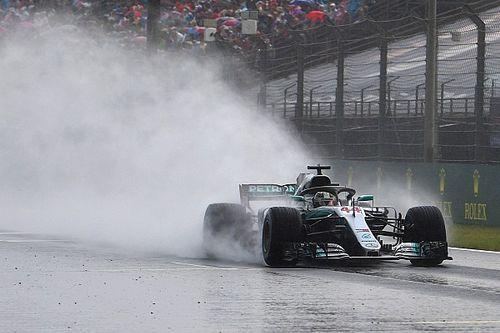 GP Hongaria: Hamilton start pole, Mercedes berjaya di hujan