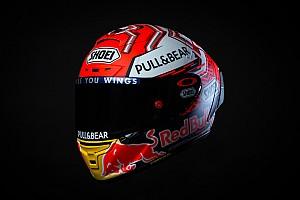 In beeld: De nieuwe helm van wereldkampioen Marquez