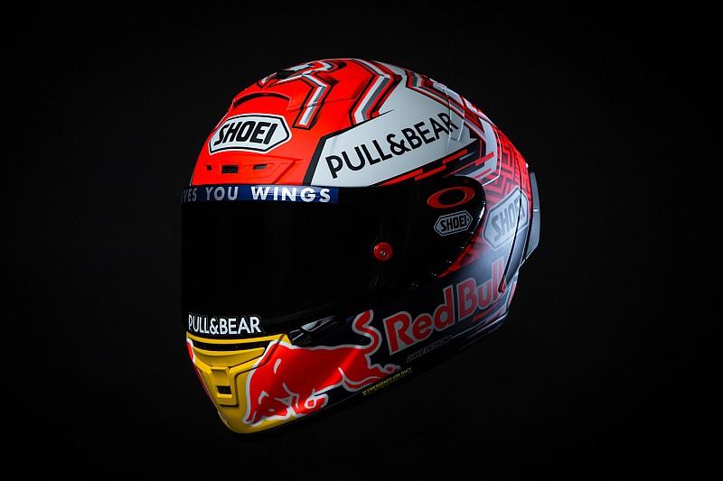 Márquez estrena nuevo diseño de casco para 2018