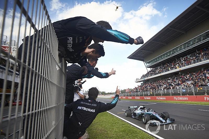 Hamilton gebruikte GP van Spanje als veredelde testsessie