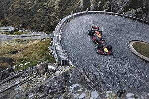Formule 1 Communiqués de presse  Buemi au volant d'une Formule 1 Red bull au Col du Gothard !