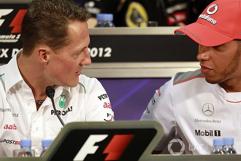 """Hamilton: """"En la computadora elegía ser Schumacher"""""""
