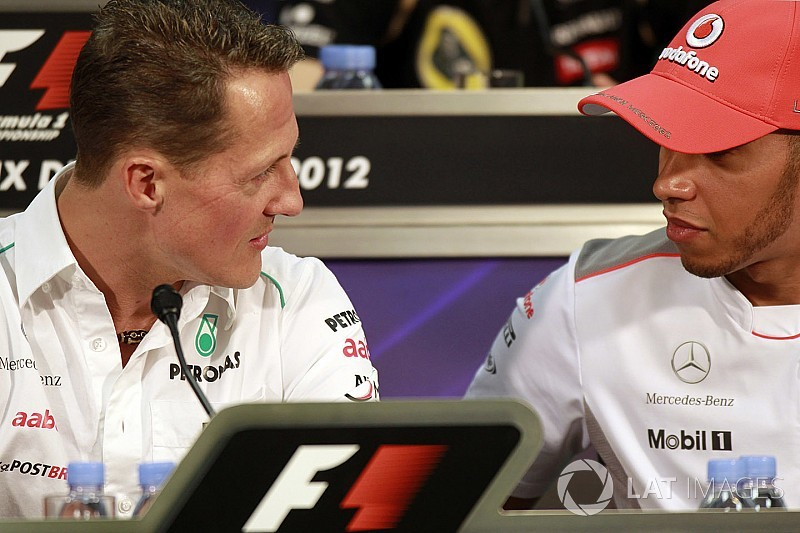 """Hamilton: """"En los videojuegos elegía ser Schumacher"""""""