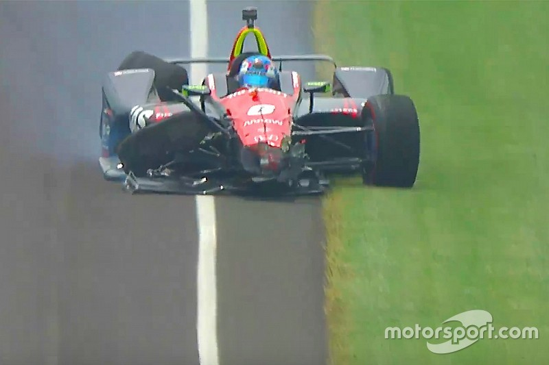 Уикенс разбил машину в последней тренировке Indy 500: видео