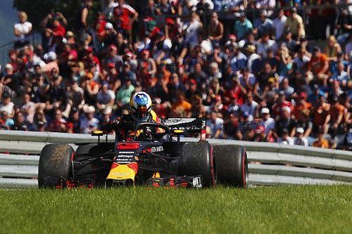 Un escape arruinó la carrera de Ricciardo