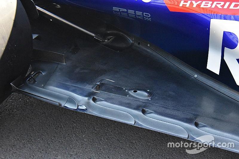 Toro Rosso: due tubi di Pitot sul nuovo fondo della STR13