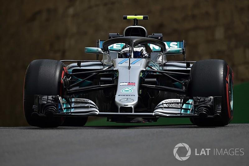 """Bottas lidera la FP1 y """"Checo"""" Pérez es tercero en Bakú"""