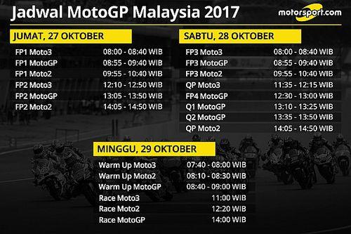 Jadwal lengkap MotoGP Malaysia 2017