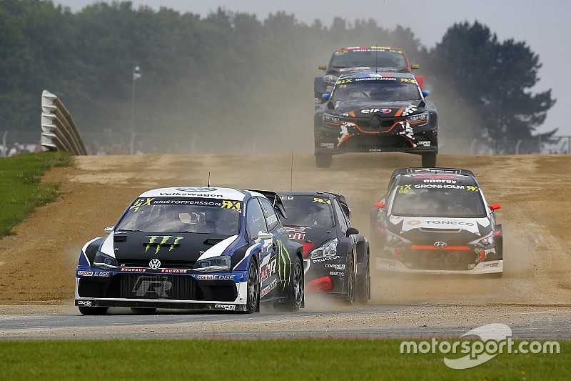 Silverstone World RX: Kristoffersson survives Solberg crash to win