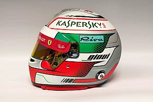 Формула 1 Новини Резервіст Ferrari Джовінацці показав новий шолом