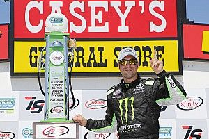 Hornish takes Iowa Xfinity win in substitute driver role
