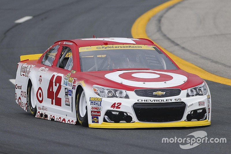 Kyle Larson tops first Cup practice; Dillon to a backup car