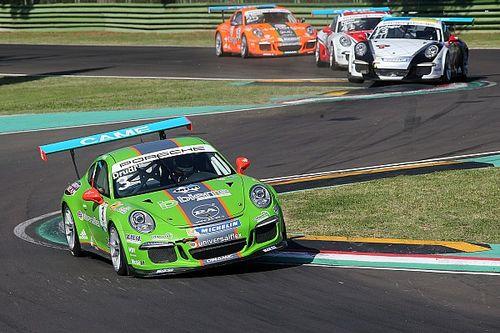 Mattia Drudi imprendibile nella prima gara di Imola della Carrera Cup Italia