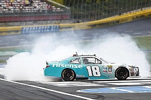 Denny Hamlin takes Charlotte win in thrilling shootout