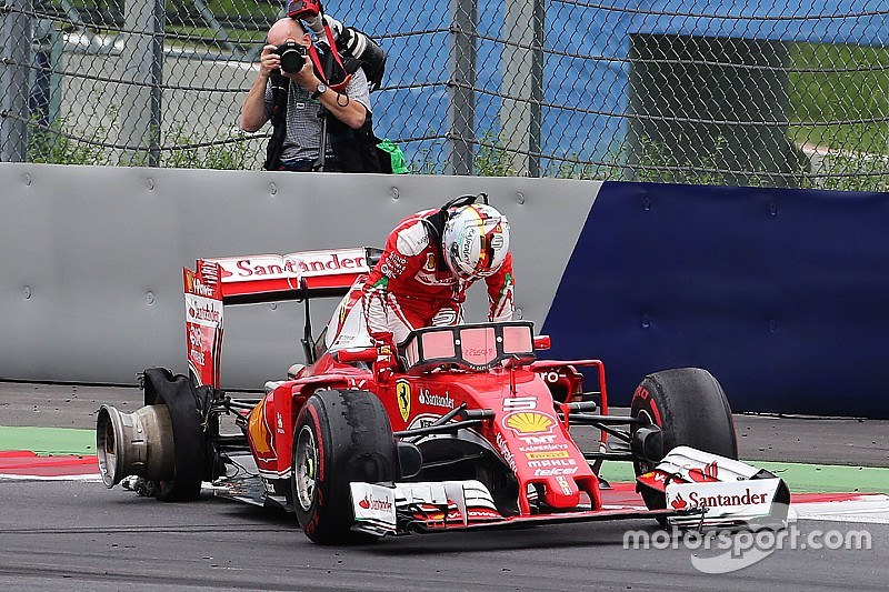 Vettel mystified by tyre explosion while leading