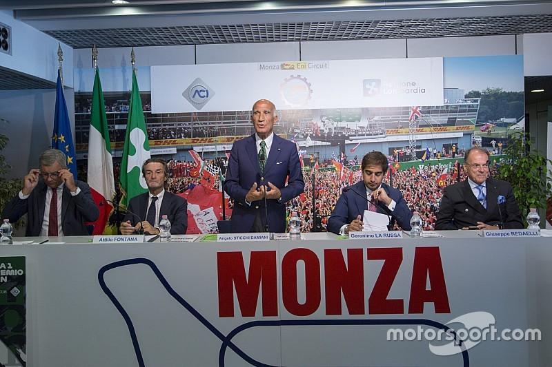 Monza, F1 yarışı için devlet desteği elde etmek üzere