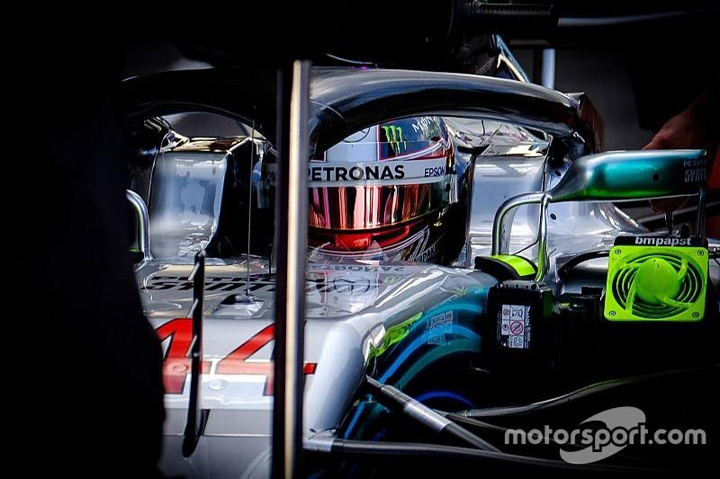 La parrilla de salida del GP de Bélgica de F1 en imágenes