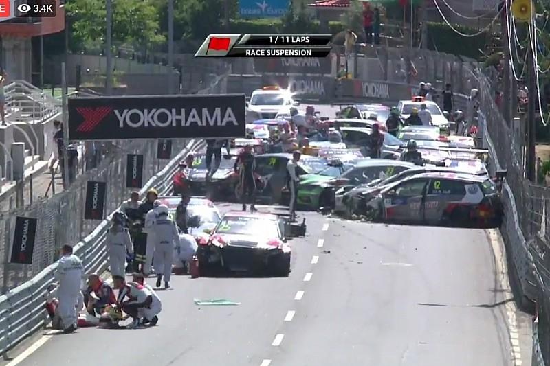 Huff e Bennani innescano una terribile carambola al via di Gara 1: bandiera rossa a Vila Real