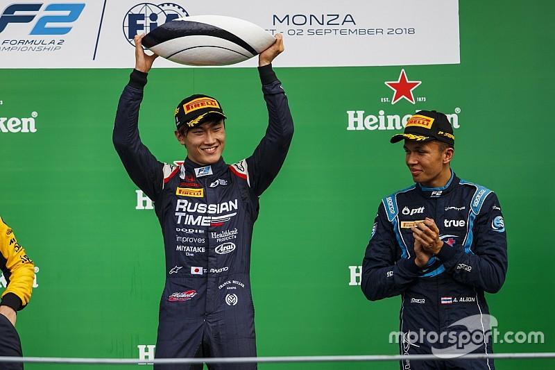 """ماكينو """"لم تكن لديه فكرة"""" بأنّه على وشك الفوز بسباق الفورمولا 2 في مونزا"""