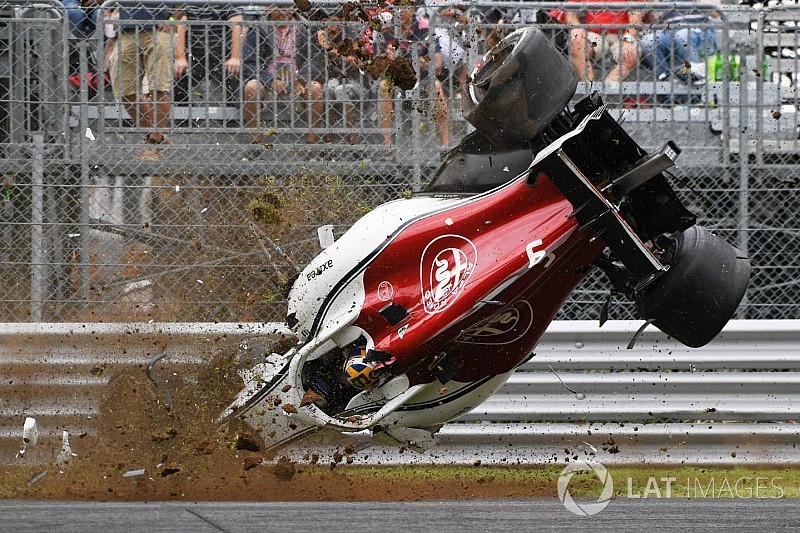 Photos - L'impressionnant accident de Marcus Ericsson à Monza