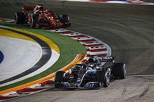 """Hamilton """"très fier"""" d'éviter les mêmes erreurs que Vettel"""