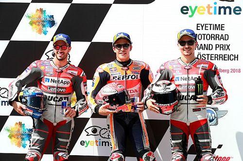 La parrilla de salida del Gran Premio de Austria de MotoGP