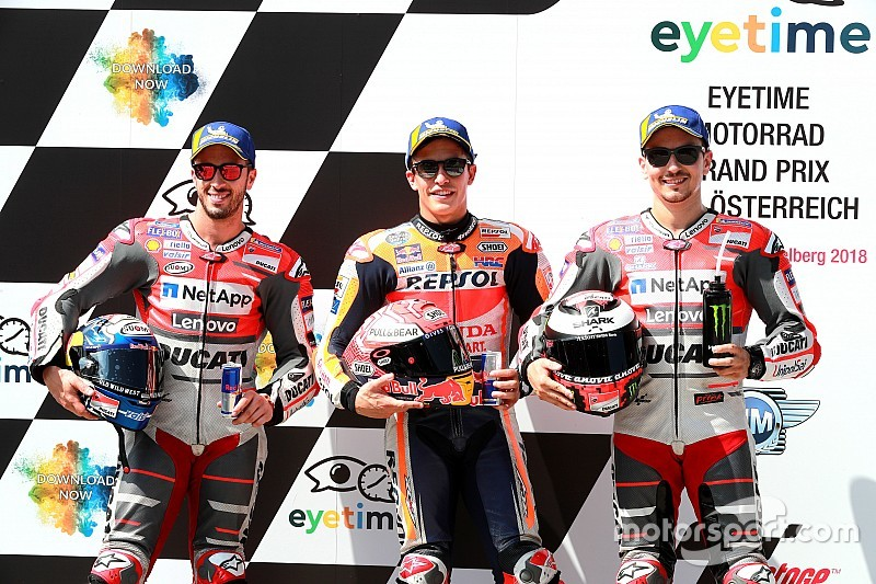 Marquez troeft Ducati af voor pole in Oostenrijkse GP, P14 voor Rossi