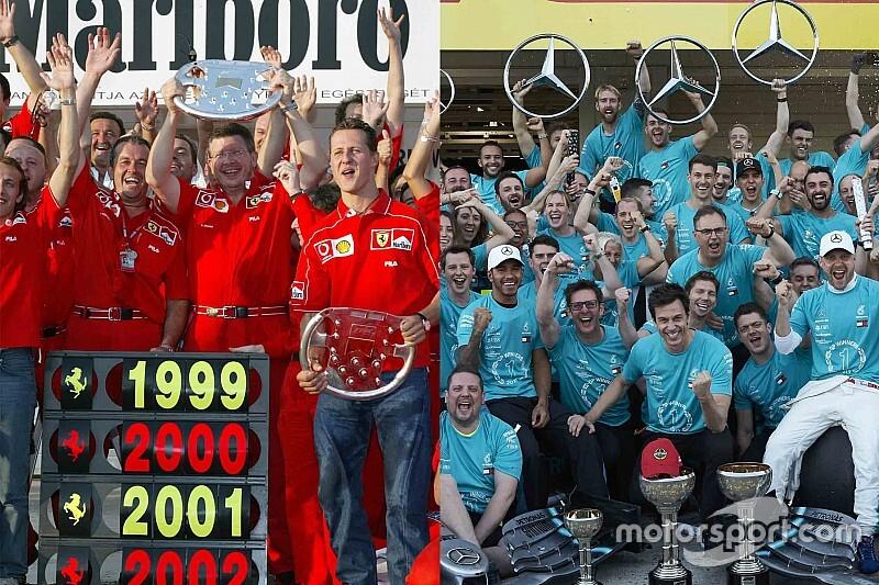 Los 6 títulos de Ferrari y Mercedes: ¿Quién fue más dominante?