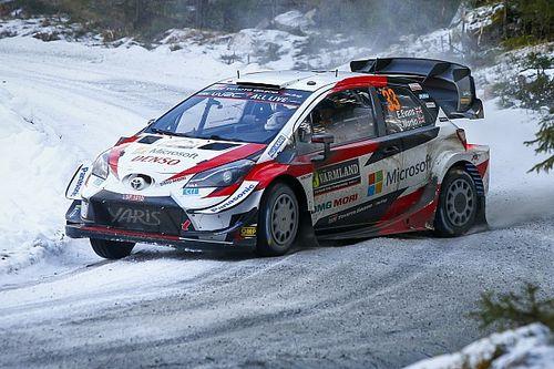 WRCスウェーデン:トヨタのエバンス首位で最終パワーステージへ
