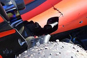 Photos - La suspension cassée de la Ferrari de Vettel à Austin