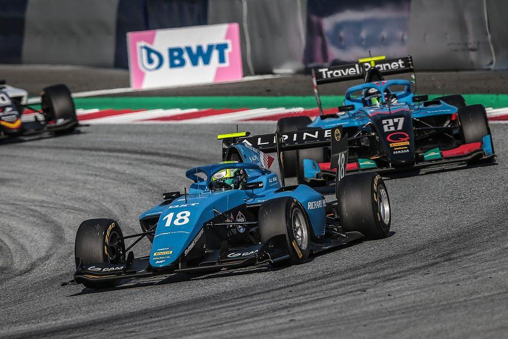 F3: De último para 7º. Collet tem boa recuperação após carro ficar parado na largada na Áustria