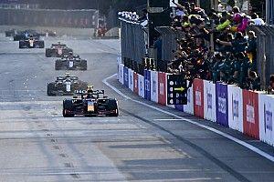 F1アゼルバイジャンGP決勝:残り5周のまさか……レッドブル・ホンダ初ワンツー幻も、ペレスが優勝。角田裕毅は自己最高7位