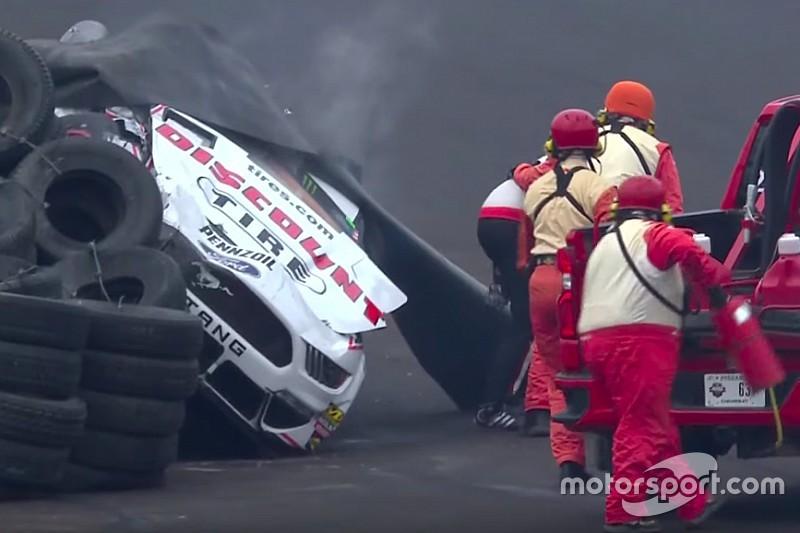 "Keselowski critical of wall's ""atrocious angle"" after hard crash"