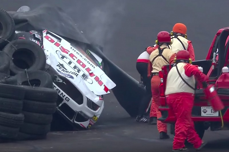 "Keselowski critical of wall's ""atrocious angle"" after crash"