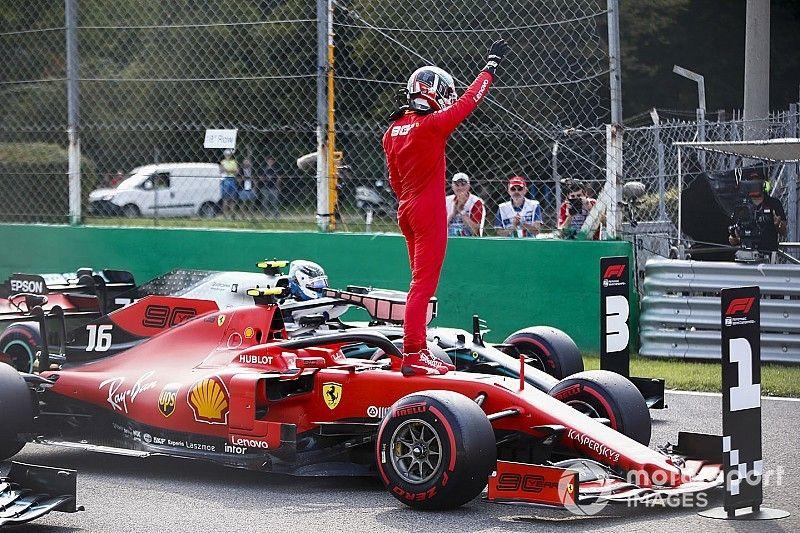 Un esperpéntico final de Q3 termina con pole de Leclerc en Monza