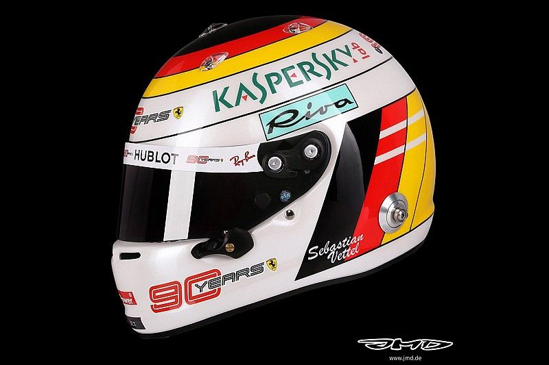Hommage: Sebastian Vettel mit Bernd-Schneider-Helmdesign