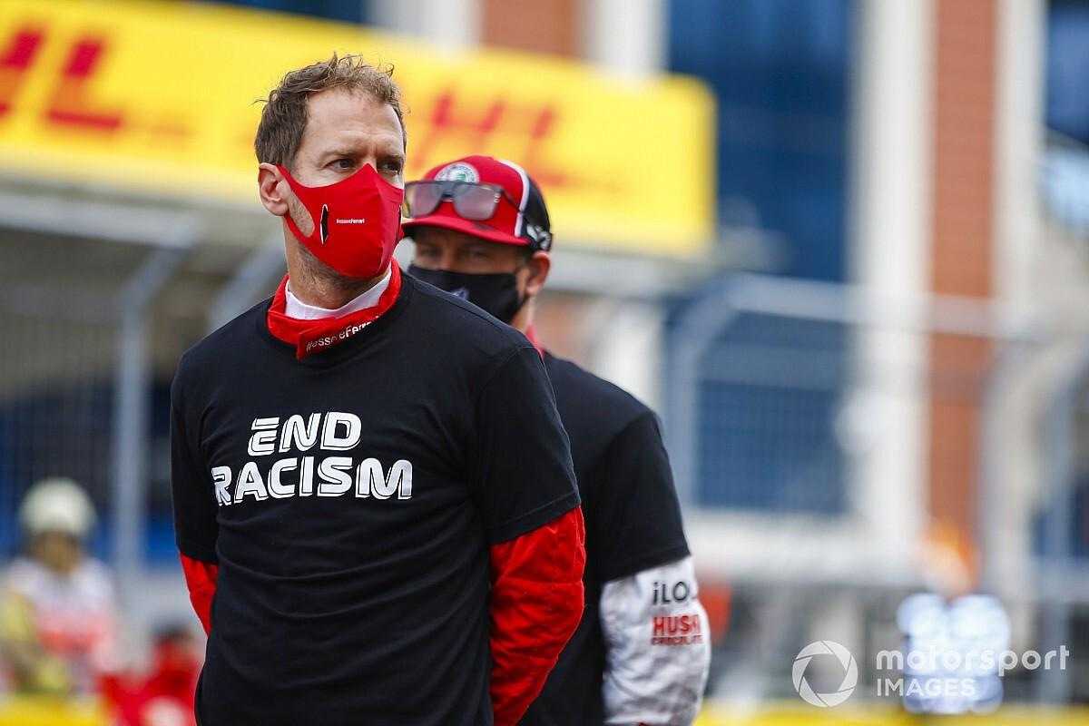F1: Vettel exalta resultado e diz que queria pôr pneus de pista seca