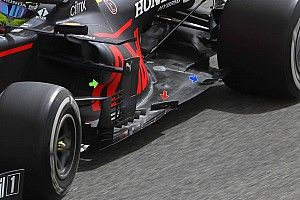 Red Bull RB16B: sul fondo si genera più carico