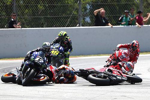 Fotostrecke: MotoGP-Crash mit Lorenzo, Dovizioso, Vinales, Rossi in Barcelona