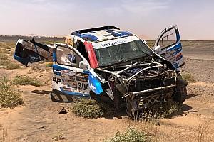 Van Loon uit Morocco Desert Challenge na megacrash
