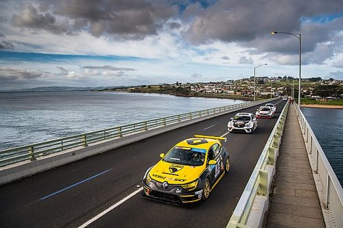 TCR cars complete unique Phillip Island bridge crossing