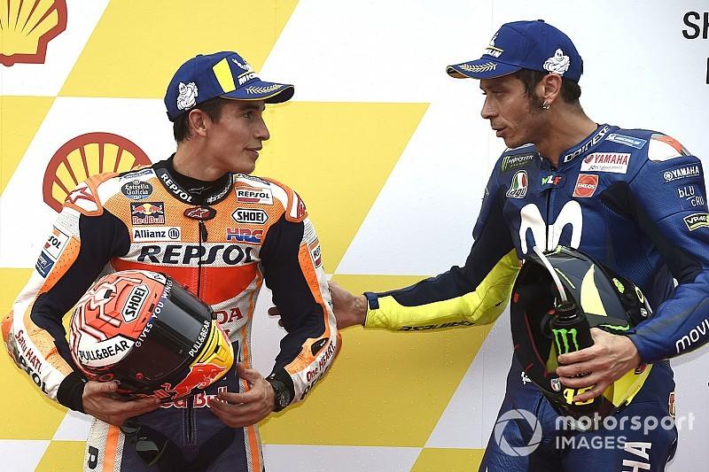 Rossi pede desculpas a Márquez por manobra durante treino