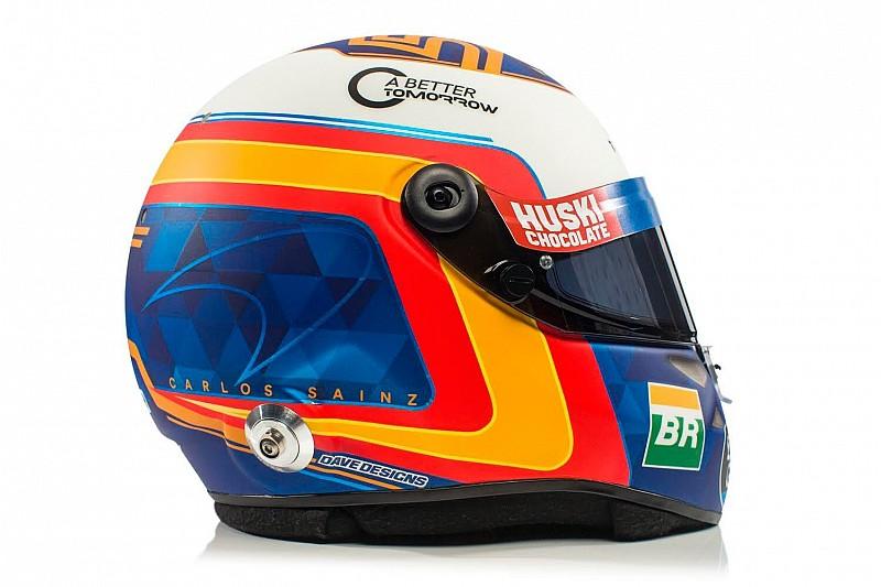 Сайнс показал дизайн нового шлема. Теперь он похож на шлем Алонсо
