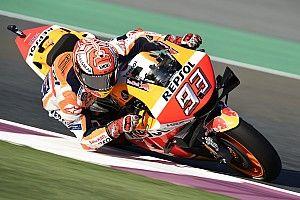 Márquez sobrevuela Qatar a ritmo de récord